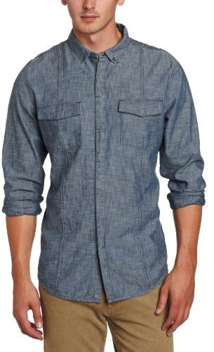 Calvin Klein Jeans Men's Chambray Woven Shirt