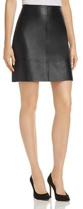 Elie Tahari Lexie Leather Mini Skirt