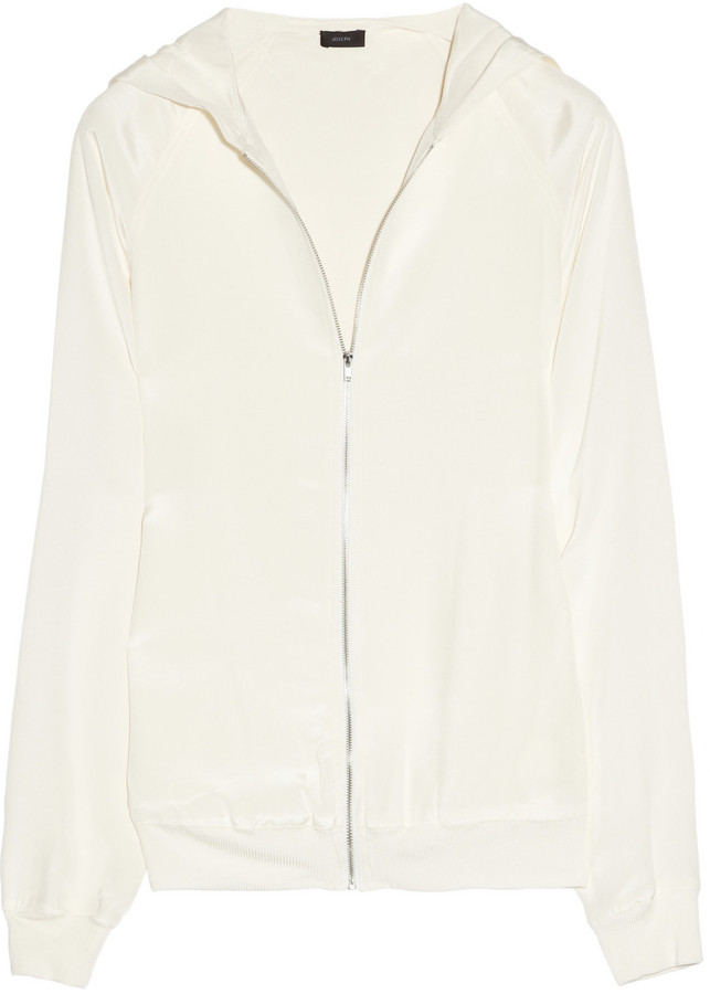 Joseph Newark hooded silk jacket