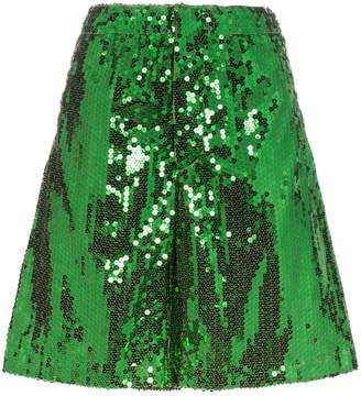 Plan C sequinned knee-length shorts