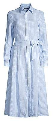 Polo Ralph Lauren Women's Ashton Striped Linen Shirt Dress