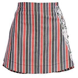 Carven Women's Striped Patch Mini Skirt