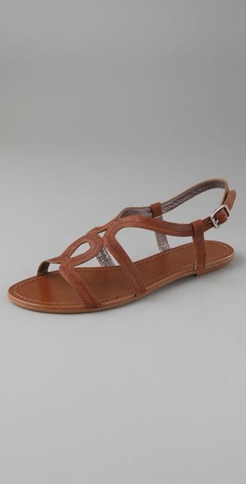 Belle By Sigerson Morrison Swirl Flat Sandals