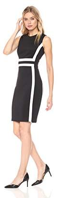 Calvin Klein Women's Sleeveless Color Block Sheath Dress