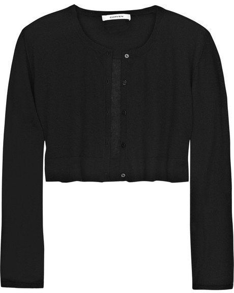 Carven Cropped cashmere cardigan