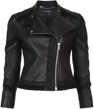 Yigal Azrouel fringed moto jacket