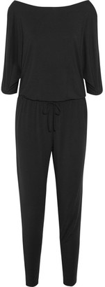 Calvin Klein Underwear - Escape Cutout Stretch-modal Jersey Jumpsuit - Black $140 thestylecure.com
