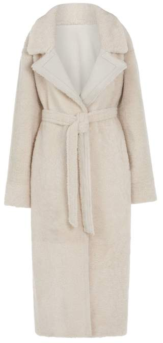 Gushlow & Cole Oversized Shearling Trench Coat