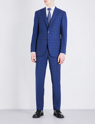 Canali Shadow check wool suit $1,365 thestylecure.com