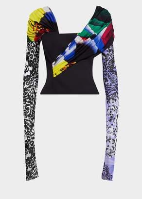 Versace Mega Mix Print Top
