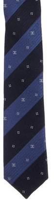 Chanel Striped Silk Tie