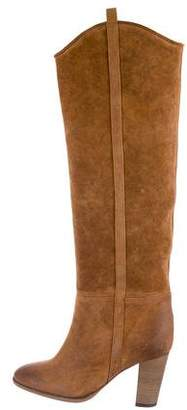 Isabel Marant Suede Distressed Knee-High Boots