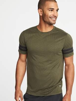 Old Navy Go-Dry Printed Sleeve-Stripe Tee for Men