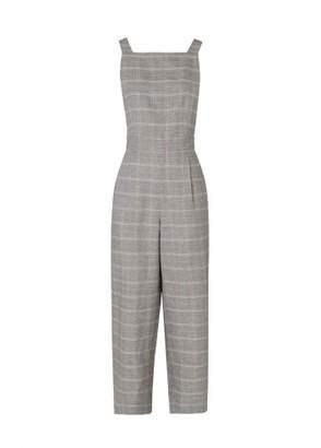 Kitri Alexa Check Linen Jumpsuit