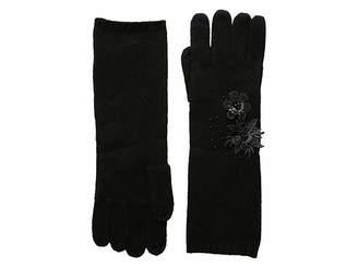 Lauren Ralph Lauren Touch Gloves with Floral Cluster