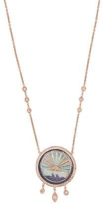Jacquie Aiche - Sunshine Opal & Diamond Rose Gold Necklace - Womens - Blue