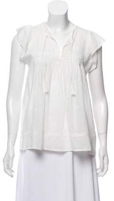 Ulla Johnson Embroidered Eyelet Tunic Top