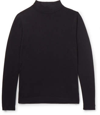 Incotex Wool-Blend Mock-Neck Sweater