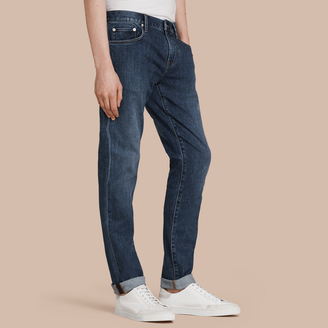 Burberry Slim Fit Japanese Denim Jeans $325 thestylecure.com