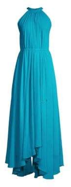 Saloni Irina A-Line Halter Handkerchief Gown