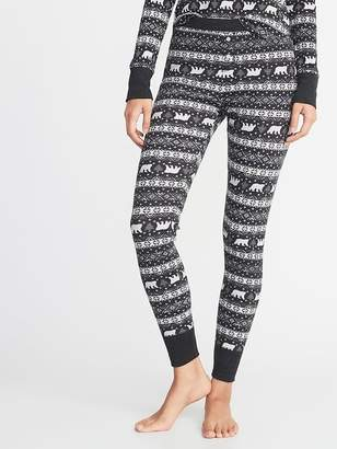 Old Navy Patterned Thermal-Knit Sleep Leggings for Women