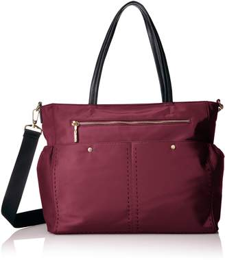 Milly Solid Stitch Diaper Bag Tote Bag