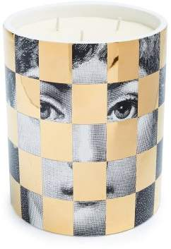 Fornasetti Scacco Otto Large Scented Candle - Black Gold