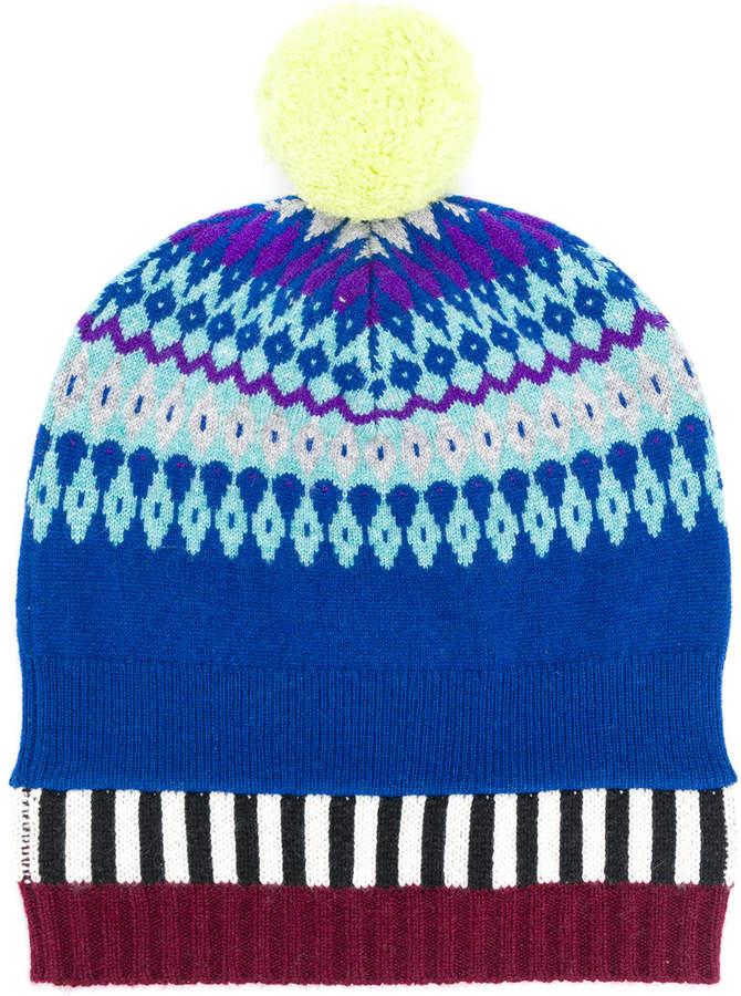 Burberry Fair Isle pompom beanie hat