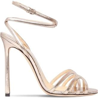Jimmy Choo 100mm Mimi Metallic Leather Sandals