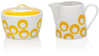Mikasa Dinnerware, Circle Chic Yellow Sugar and Creamer