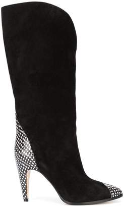 Givenchy python trimmed boots