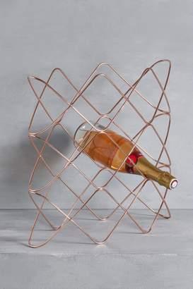 Next Rose Gold Effect Wine Rack