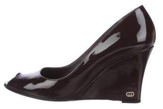 Gucci Patent Leather Wedge Pumps