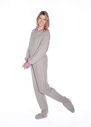 at Amazon Canada · Co Big Feet Pajama Lavender Plaid Cotton Flannel Adult  Footie Pajamas No Drop-seat ( 4b96495aa