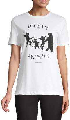 Etre Cecile Party Animals Graphic Cotton Tee