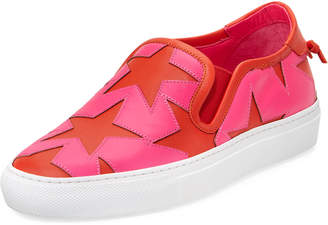 Givenchy Two-Tone Star Skate Sneakers, Pink/Red