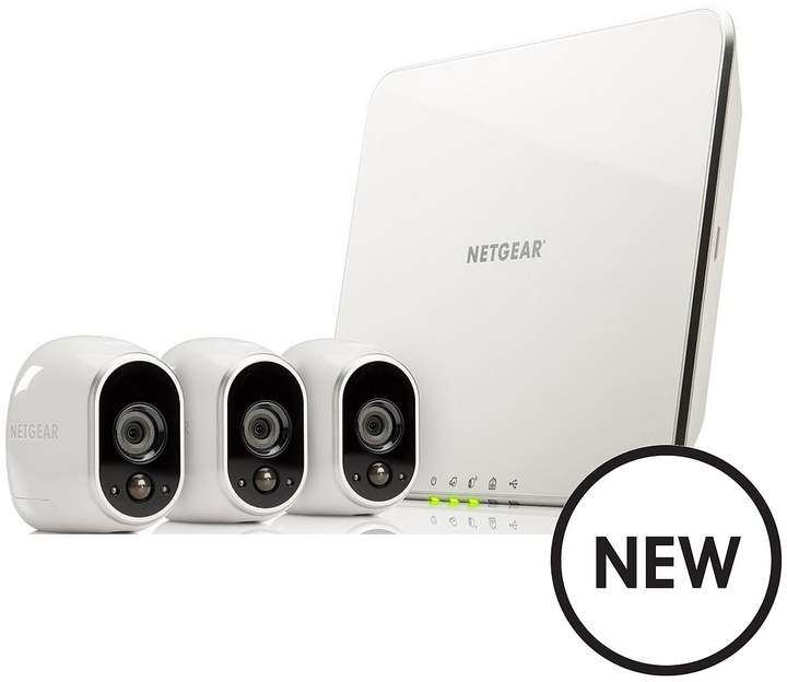 Netgear Arlo VMS3330 HD Home Security Kit With 3 Cameras