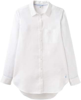 8fc941ecd Next Womens Joules White Jeanne Plain Longline Linen Shirt