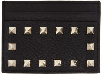 Valentino Black Garavani Rockstud Card Holder