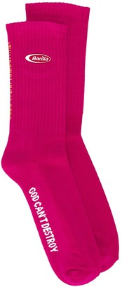 GCDS Barilla embroidered sock