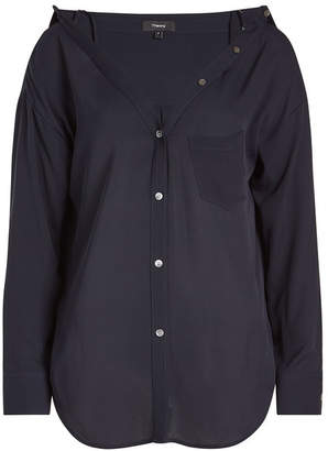 Theory Tamalee Silk Blouse