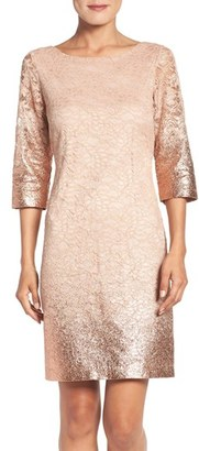 Women's Ivanka Trump Foiled Lace A-Line Dress $158 thestylecure.com