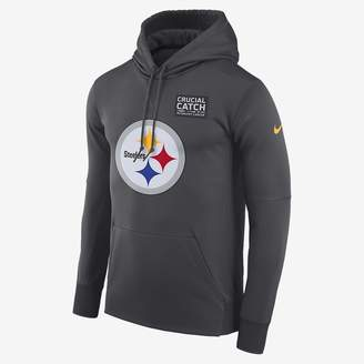 Nike Dri-FIT Therma Crucial Catch (NFL Steelers) Men's Pullover Hoodie