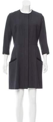 Jason Wu Wool Leather-Trimmed Dress