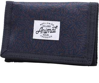Animal Mens Exploited Polyester 3 Leaf Wallet Dark Navy