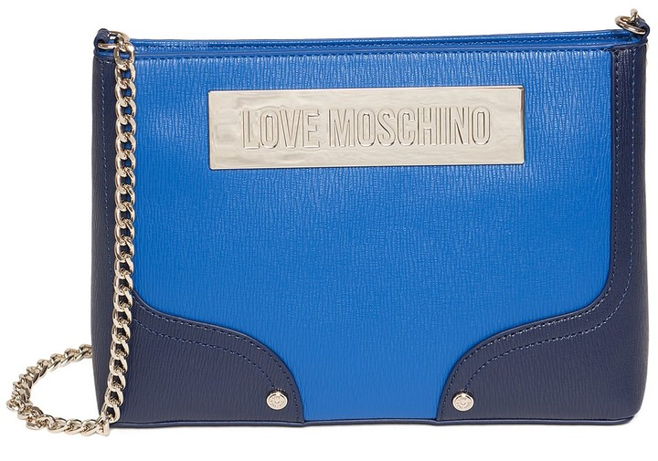 Love Moschino LOVE Moschino Shoulder Chain Colorblock Evening Bag