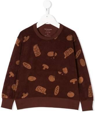 Tiny Cottons groceries towel sweatshirt