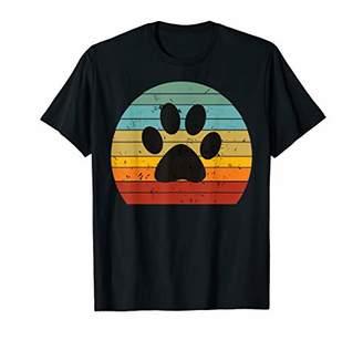 retro colourful vintage cat dog pet paw print kitten lovers T-Shirt