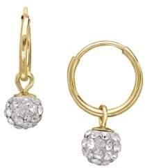 Lord & Taylor Crystal Drop Hoop Earrings