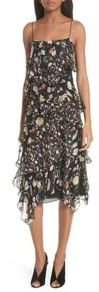 Jason Wu GREY Painterly Floral Print Silk Blend Dress